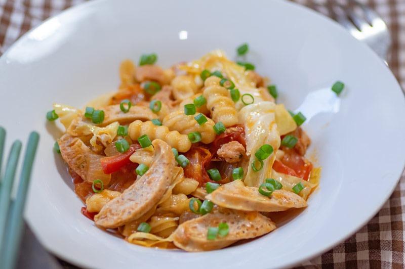 Kalbsgeschnetzeltes von Fleischerei Nieß mit Gnocchi und Gemüse